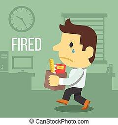 辦公室工人, 燃燒
