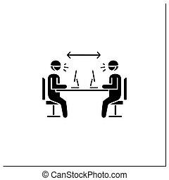 辦公室, 圖象, glyph, 距離