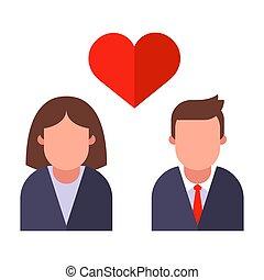 辦公室, 天, 情人是, 辦公室。, 浪漫史, work.