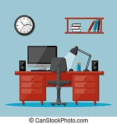 辦公室, 工作區, 現代的商務