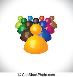辦公室, 政治, graphic., 成員, 社區, 簽署, 人員, &, 胜利者, -, 隊, 也, 追隨者, 領導人, 3d, 鮮艷, 插圖, 領導, 代表, 這, 雇員, 圖象, 或者, 矢量, 失敗者