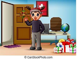 辦公室, 聖誕節, 人