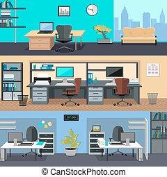 辦公室, room., 內部設計, 插圖