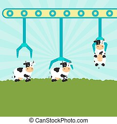 農場, 机械, 牛