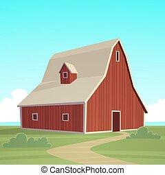農場, 紅的谷倉