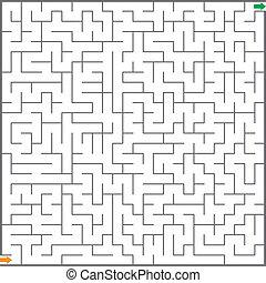 迷宮, 插圖, 矢量