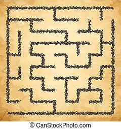迷宮, 插圖