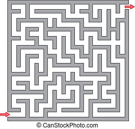 迷宮, 灰色, 插圖, 矢量