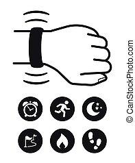 追蹤者, 技術, wearable, 健身