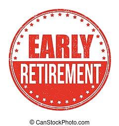 退休, 早, 郵票