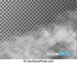 透明, 矢量, 背景。, 煙