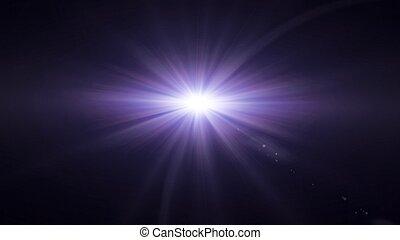 透鏡, 紫色, 發光, 閃光