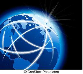 通訊, 世界全球, 大約, 世界