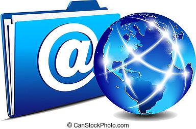 通訊, 文件夾, 電子郵件, 全球