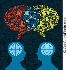通訊, 社會, 腦子, 媒介