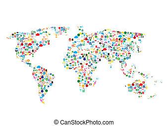 通訊, 网絡, 全球的网絡, 社會