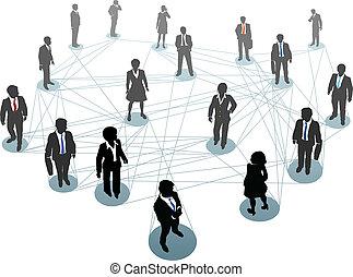 連接, 人們, 節點, 事務, 网絡