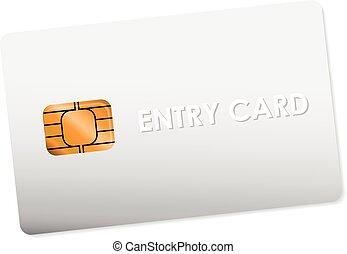 進入, 白色, 卡片
