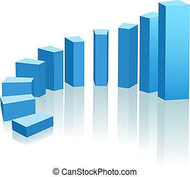 進展, 成長, 弧, 圖表, 向上