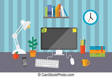 運作的 辦公室, 空間