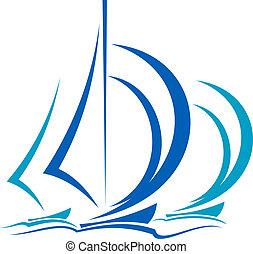 運動, 帆船, 動態