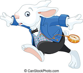 運轉兔子, 白色