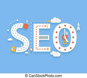 過程, seo, optimization, 搜尋, 網際網路