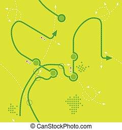 道路, map., seamless, 插圖, 二