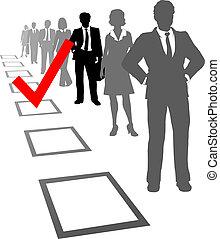 選擇, 資源, 人 事務, 選擇, 箱子