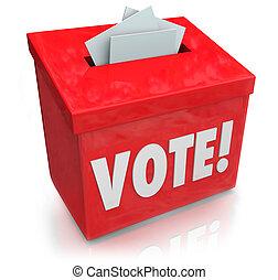 選舉, 投票, 箱子, 民主, 選票, 詞
