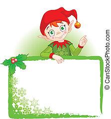 邀請, &, 小精靈, 地方, 圣誕節卡片