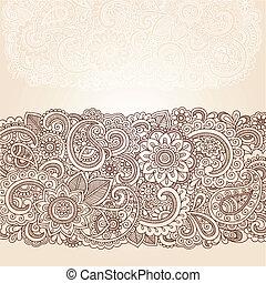 邊框, 佩斯利螺旋花紋呢, 指甲花, 設計, 花