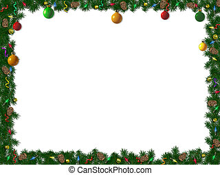 邊框, 聖誕節