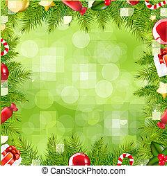邊框, 聖誕節, 迷離, 樹