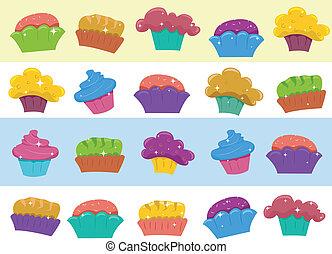 邊框, cupcake