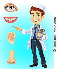 部份, 臉, -, 表明, 醫生