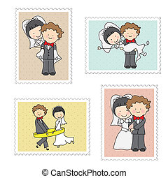 郵票, 婚禮