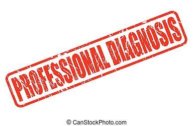 郵票, 專業人員, 診斷, 紅色, 正文
