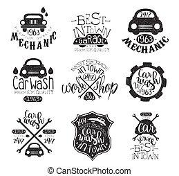 郵票, 汽車洗滌, 彙整, 葡萄酒