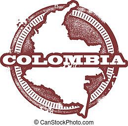郵票, 美國, 哥倫比亞, 南方