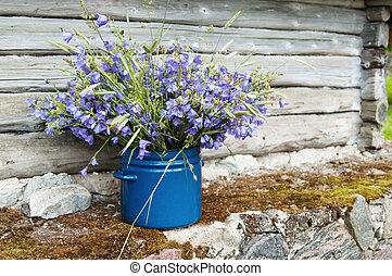 鄉村, 花, 花束, 風景, 領域, amidst