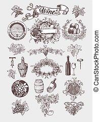酒, set., 葡萄酒, winemaking