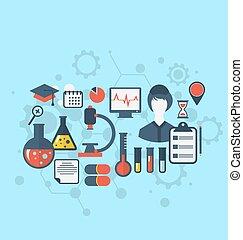 醫學研究, 集合, 管理, 科學, 圖象, 概念, 套間