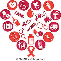 醫學, 元素, 背景, 圖象