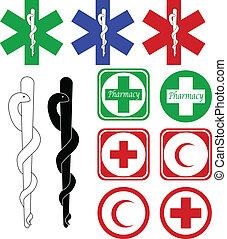 醫學, 藥房, 圖象