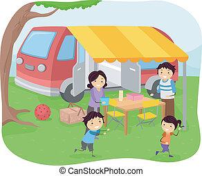 野餐, 家庭