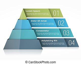 金字塔, 圖表