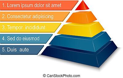 金字塔, 圖表, infographics