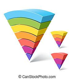 金字塔, 7, 3-layered, 形狀, 5