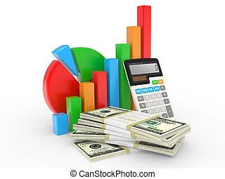 金融, 事務, 成功, 顯示, 圖表, 市場, 股票